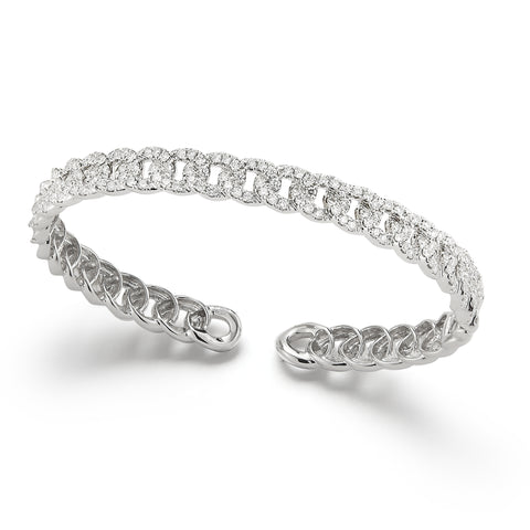 14k Gold Mini Pave Diamond Link Bracelet