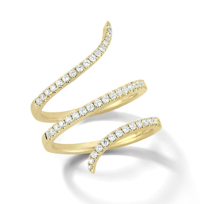 Diamond Triple Twist Ring