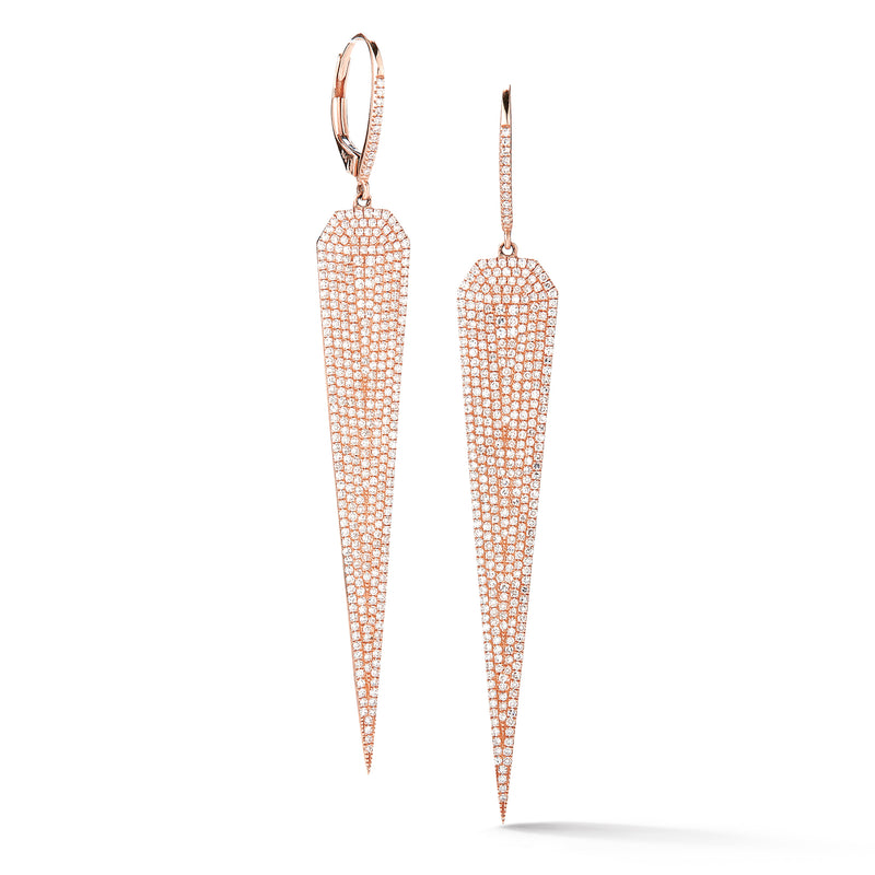 Pave-set Diamond Dagger Earrings