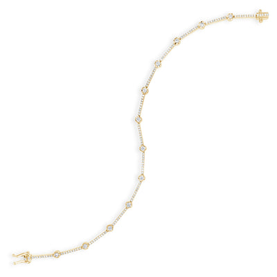 Prong-Set Diamond Link Fashion Bracelet