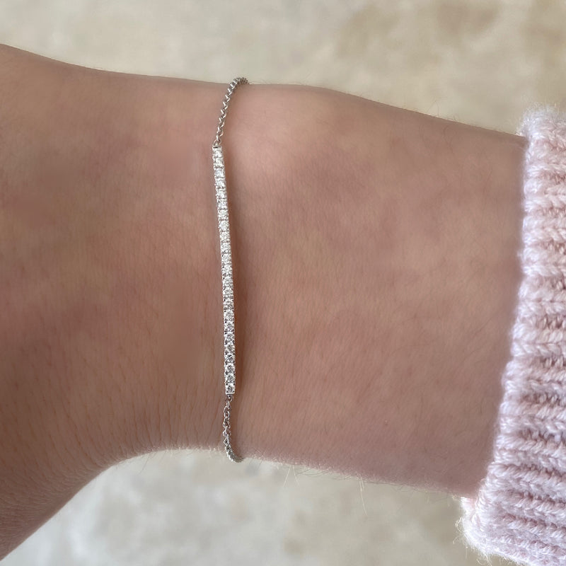 Diamond Slim Bar Bracelet