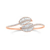 Diamond Bypass Leaf Bangle