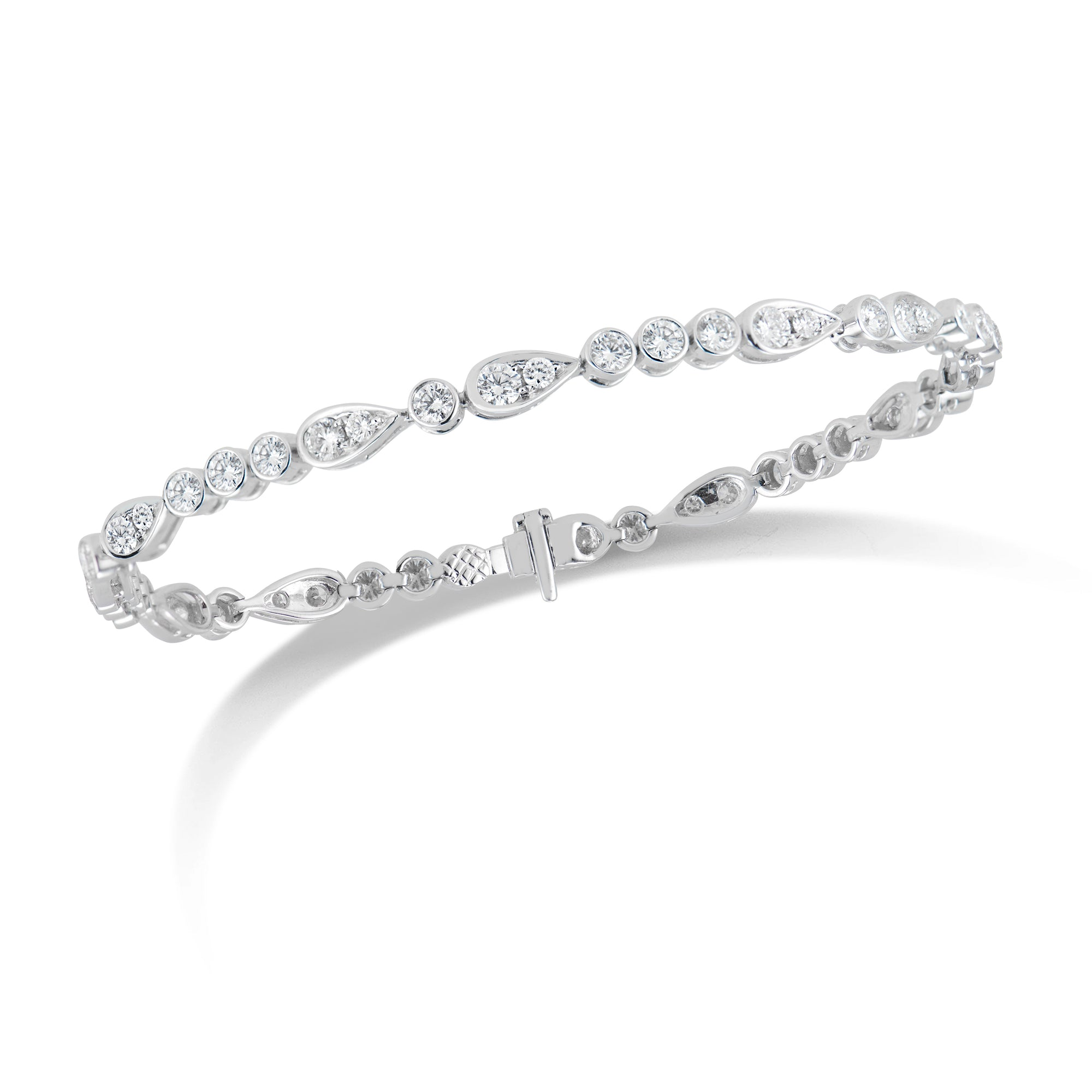 Diamond Teardrops & Circles Tennis Bracelet
