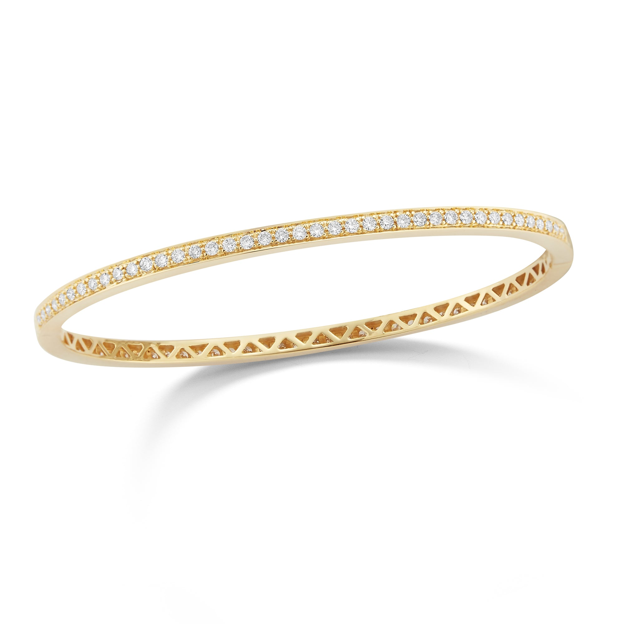 Pave Diamond Eternity Bangle Bracelet