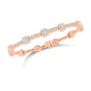 Diamond Cushion Milgrain Link Bracelet