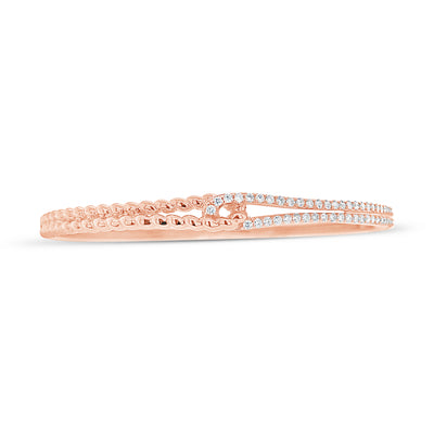 Diamond Linked Rope Bangle Bracelet