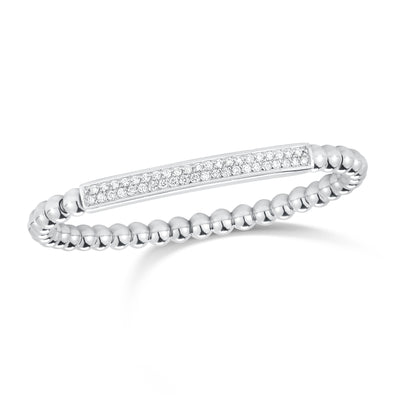 Pave-set Diamond Bar Stretch Bracelet