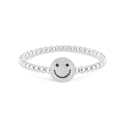 Diamond Smiley Face Bracelet