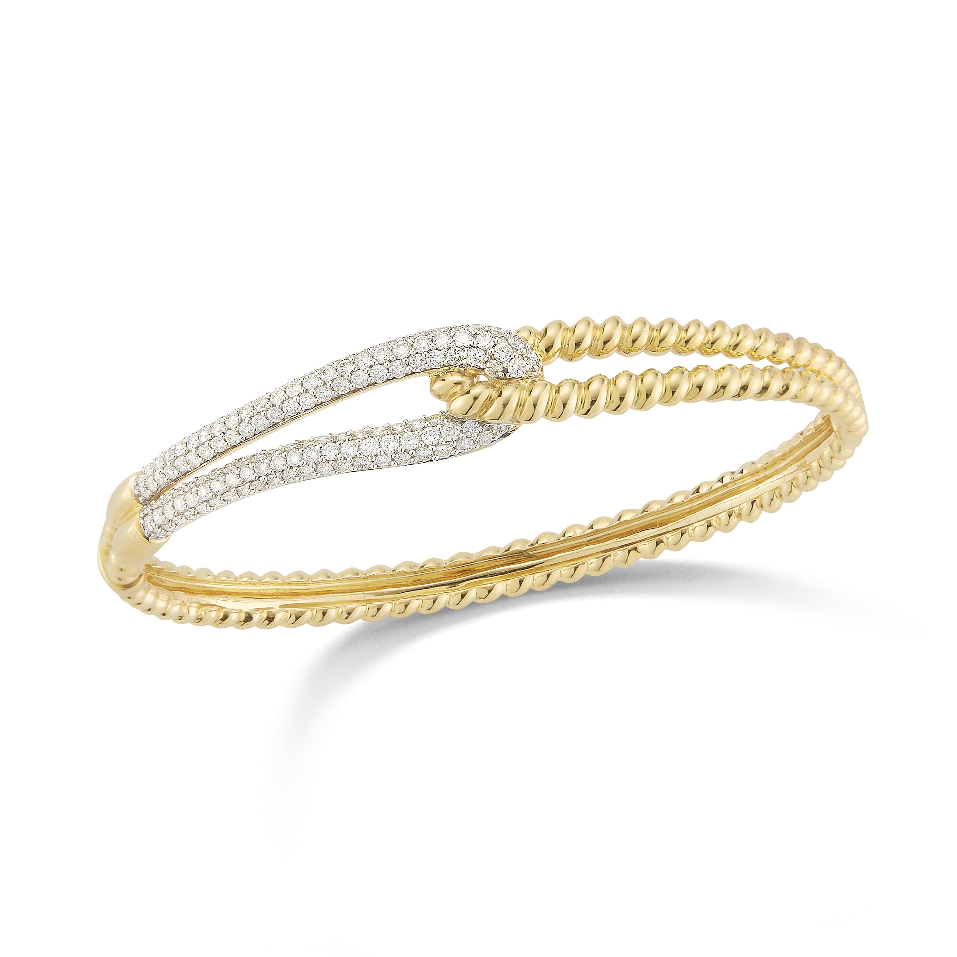 with set milgrain gold pave wedding channel top bangle eternity in band ring white diamond bangles