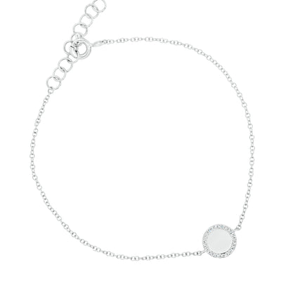 Diamond-Framed Disc Bracelet