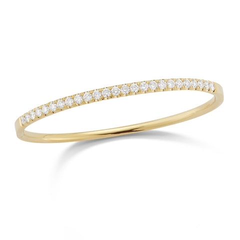 Enlarged Diamond Bangle Bracelet