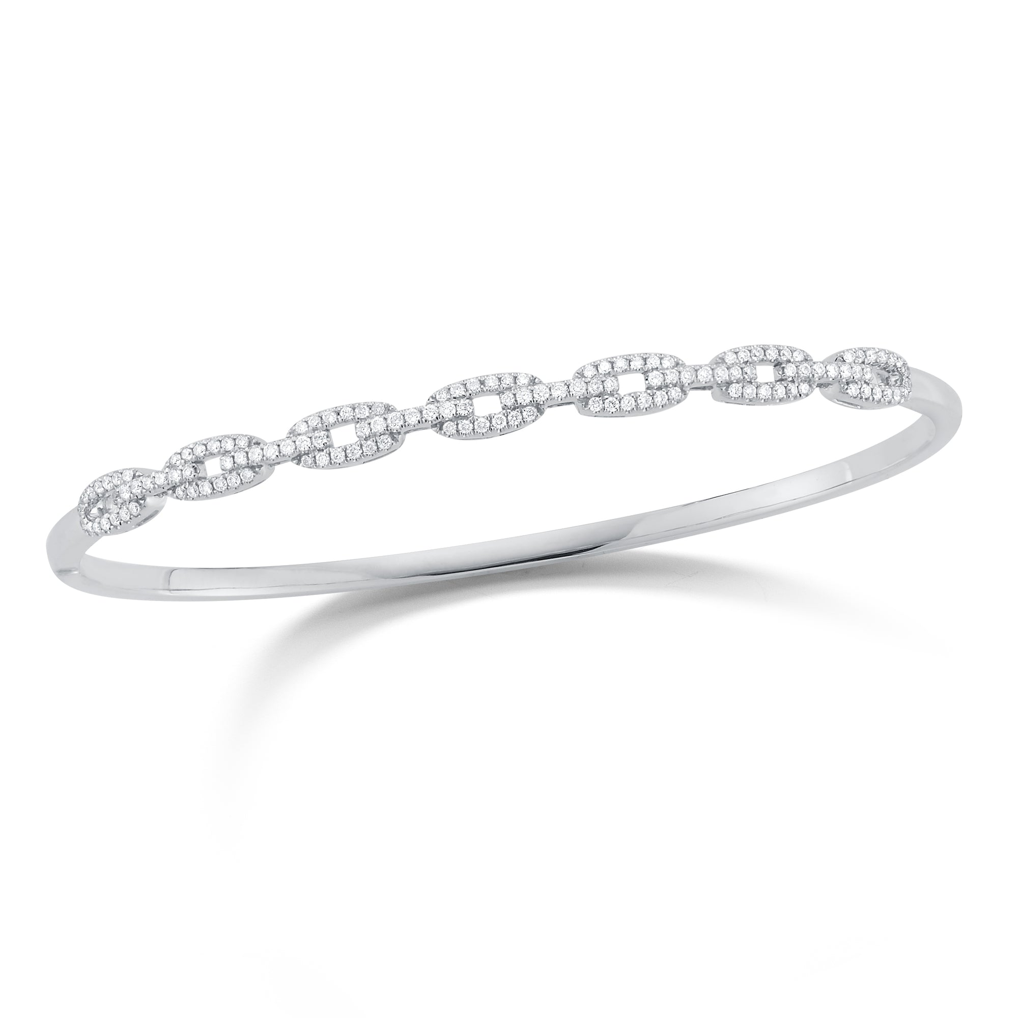 Diamond Chain Link Bangle Bracelet