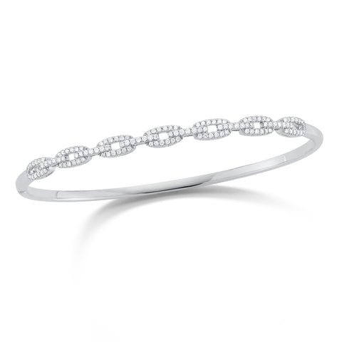 Diamond Chain Bangle Bracelet