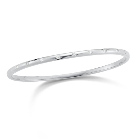 Diamond Bezel-set Bangle Bracelet