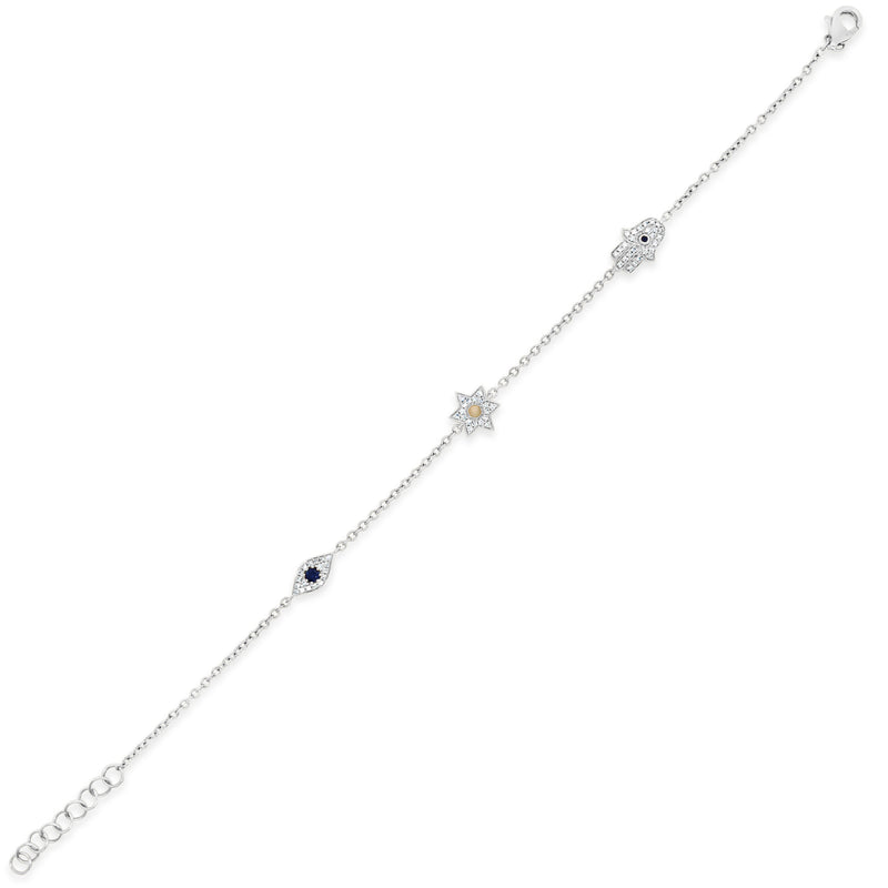 Diamond Jewish star Fashion Bracelet