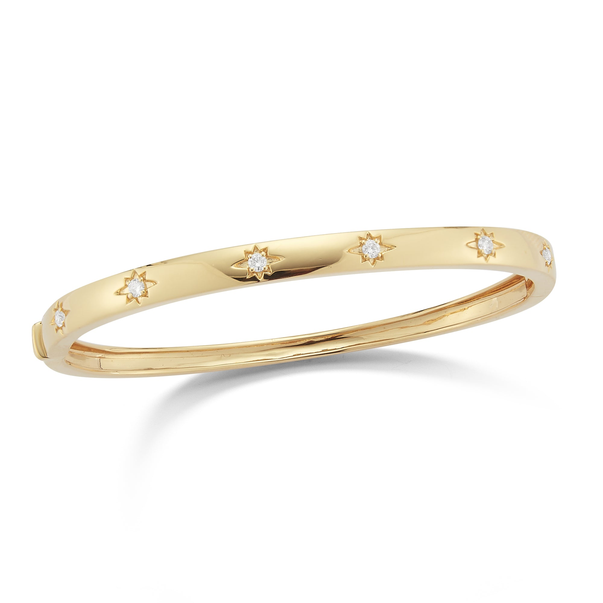 Diamond Starburst Bangle Bracelet