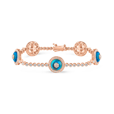 Diamond Bezels Evil Eye Bracelet