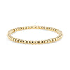 Gold Small Bead Stretch Bracelet