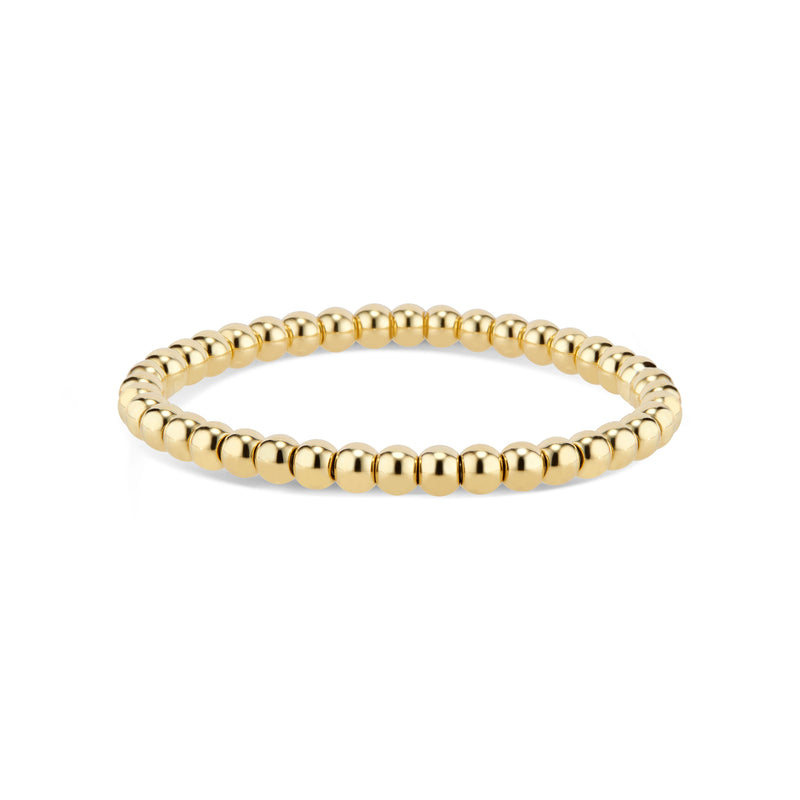 Gold Medium Bead Stretch Bracelet
