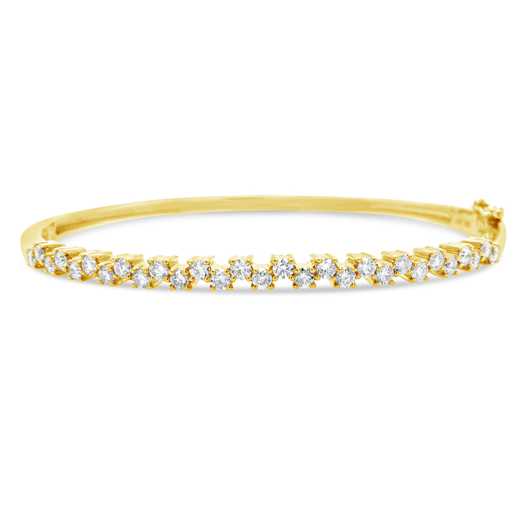 Zig-Zag Diamond Bangle Bracelet