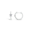 Diamond Star Accent Huggie Earrings