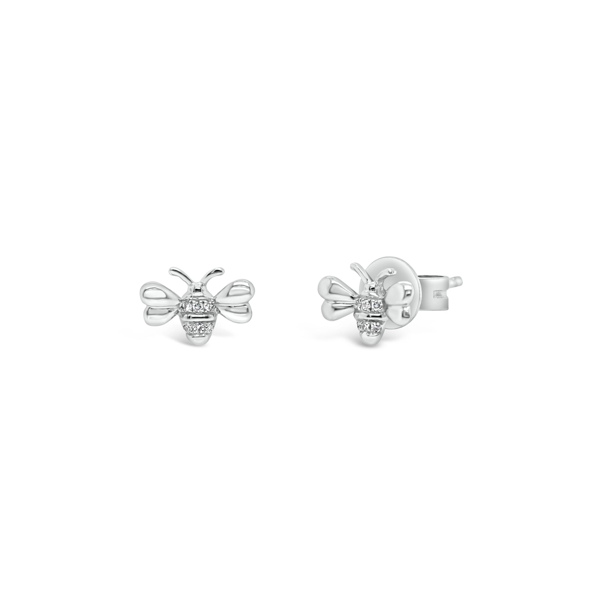 Diamond Bee Stud Earrings