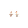 Diamond & Gold Star Crawler Earrings