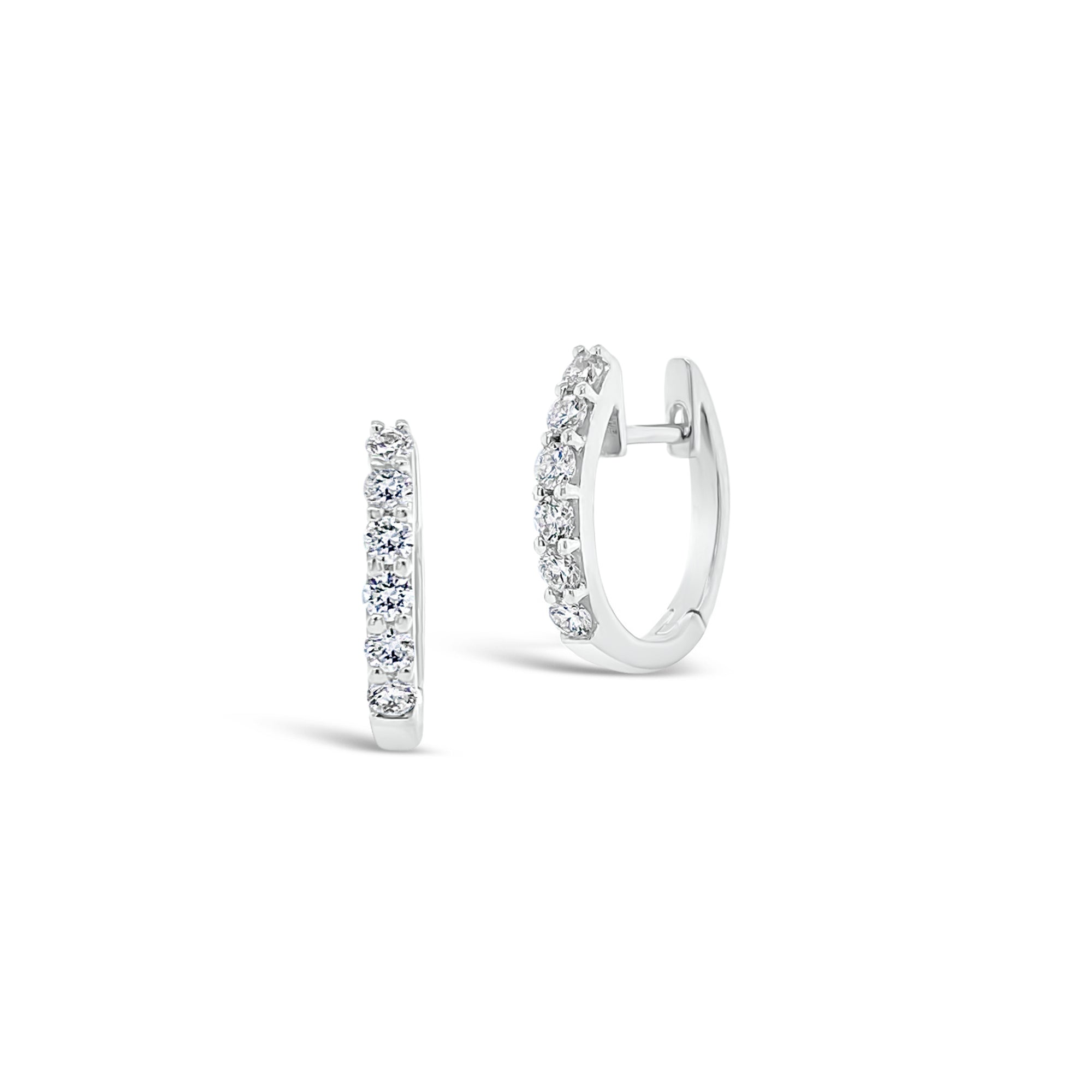 Diamond Tiny Huggie Earrings