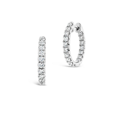 Inside/Outside Diamond Huggie Earrings