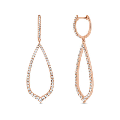 Diamond Arabesque Drop Earrings