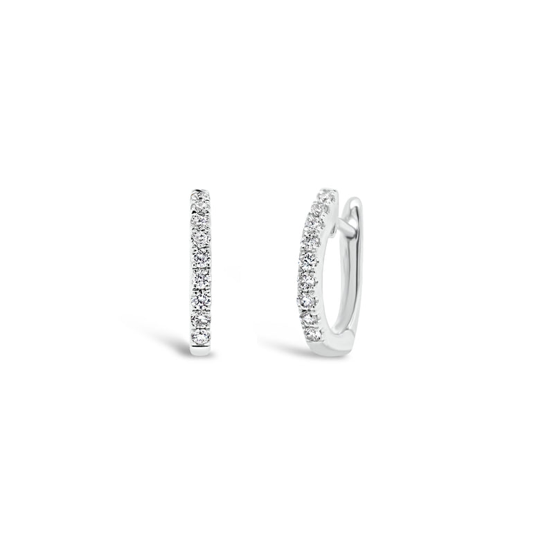 Diamond Small Huggie Earrings