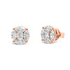 Mixed Shape Diamond Stud Earrings