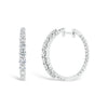 Diamond Interior & Exterior Hoop Earrings