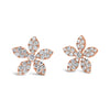 Diamond Bloom Stud Earrings