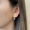 Diamond Star Lever-Back Earrings