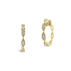 Large Diamond Wavy Hoop Earrings
