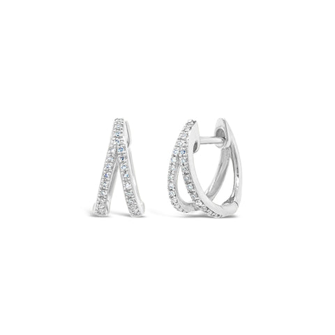 Diamond Cut-out Huggie Earring