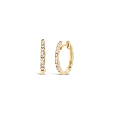 Mini Diamond Huggie Earrings