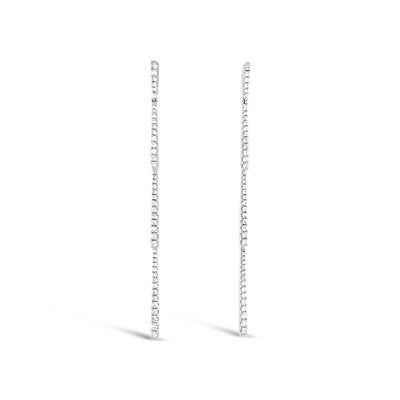Diamond Classic Linear Dangle Earrings