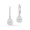 Diamond Pear-Shaped Halo Drop Earrings