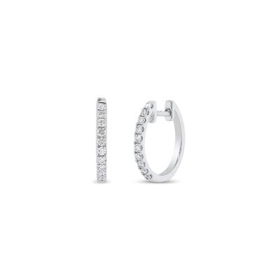 Diamond Simple Huggie Earrings