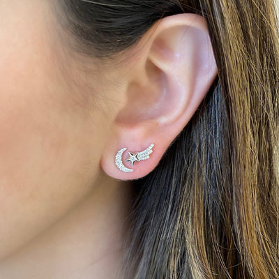 Celestial Diamond Stud Earrings