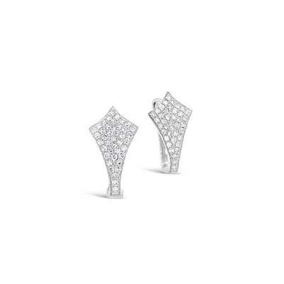 Kite-Shaped Pave Huggie Earrings