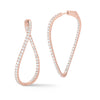 Diamond Subtle Twisted Hoop Earrings