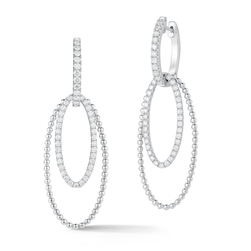 Diamond Two-Tone Hoop Earrings