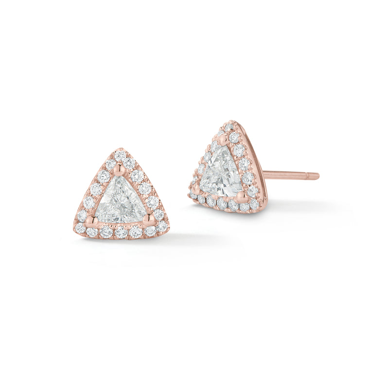 Triangle-shaped Diamond Earrings