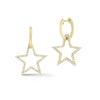 Diamond Star Cutout Dangle Earrings