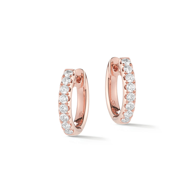 Thick Diamond Huggie Earrings