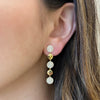 Pave Diamond Disc Dangle Earrings