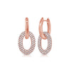Pave Diamond & Gold Link Earrings